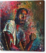Self Portrait In Progress Acrylic Print