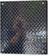 Self Portrait In Steel Acrylic Print by Robert Ullmann