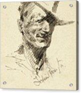 Self Portrait Of Frederic Remington Acrylic Print