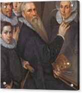 Self Portrait Of The Painter And His Family Acrylic Print
