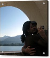 Self-portrait On Lake Wolfgang Acrylic Print