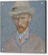 Self-portrait Paris  Summer 1887 Vincent Van Gogh 1853  1890 Acrylic Print
