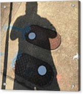 Self Portrait Raleigh NC with Water Meters Acrylic Print