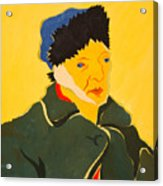 Self Portrait With Bandaged Ear. After Vincent Van Gogh Acrylic Print