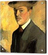 Self Portrait With Hat Acrylic Print