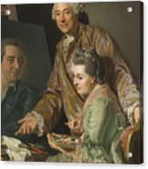 Self-portrait With His Wife Marie-suzanne Giroust Acrylic Print
