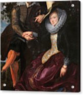 Self Portrait With Isabella Brandt, His First Wife, In The Honey Acrylic Print