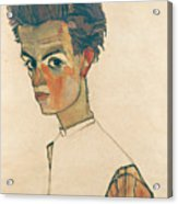 Self-portrait With Striped Shirt Acrylic Print