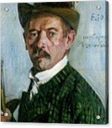 Self Portrait With Tyrolean Hat Acrylic Print