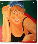 Self Potrait Of Artist Shellie Gustafson Acrylic Print