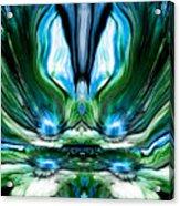 Self Reflection - Blue Green Acrylic Print