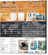 Self Serivce Laundary Machine Subhang Jaya Acrylic Print