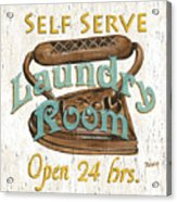 Self Serve Laundry Acrylic Print by Debbie DeWitt