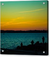Selfie Sunset Acrylic Print