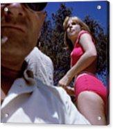 Selfie With Pink Bikini Girl Acrylic Print
