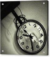 Selfportrait On A Clock Acrylic Print