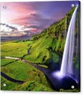 Seljalandsfoss Waterfall Acrylic Print