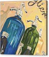 Seltzer Bottles Acrylic Print