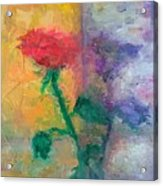 Semi Abstract Flowers#1 Acrylic Print