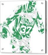 Semi Ojeleye Boston Celtics Pixel Art 2 Acrylic Print