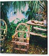 Seminole Indian Made Outdoor Furniture Acrylic Print