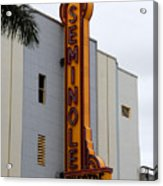 Seminole Theatre 1940 Acrylic Print by David Lee Thompson