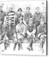semipro baseball 1908 CO railroad pencil portrait Acrylic Print