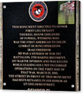Semper Fi To The 1st Man Down In Iraqi Freedom Plaque Acrylic Print