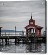 Seneca Lake Pier Acrylic Print