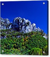 Seneca Rocks National Recreational Area Acrylic Print by Thomas R Fletcher