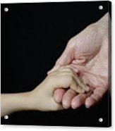 Senior Woman And Girl Holding Hands Acrylic Print