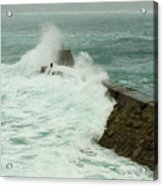 Sennen Cove Breakwater Acrylic Print