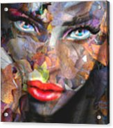 Sensual Eyes Autumn Acrylic Print