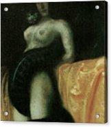 Sensuality Acrylic Print by Franz Von Stuck