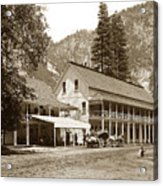 Sentinel Hotel And Ivy And River Cottages Circa 1895 Acrylic Print