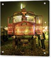 Sentinel Steam Bus By Night  Acrylic Print