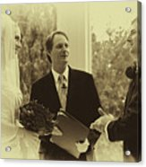 Sepia 2 Wedding Couple Example Acrylic Print