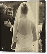 Sepia 3 Wedding Couple Example Acrylic Print