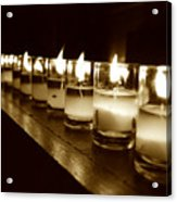 Sepia Candles Acrylic Print