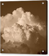 Sepia Clouds Acrylic Print