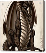 Sepia Dragon Acrylic Print