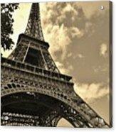 Sepia Eiffel Acrylic Print