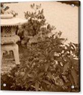 Sepia Japanese Garden Acrylic Print