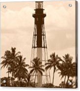 Sepia Light House  Acrylic Print