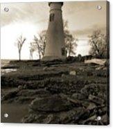 Sepia Marblehead Lighthouse Acrylic Print