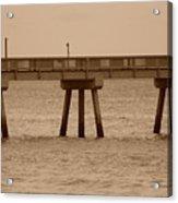 Sepia Pier Acrylic Print