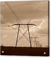 Sepia Power Acrylic Print