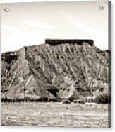 Sepia Tones Nature Landscape Nevada  Acrylic Print