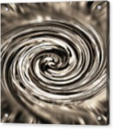 Sepia Whirlpool - Derived From Ribbon Grass Plant Image Acrylic Print