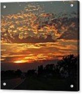 Sept Sunset Acrylic Print